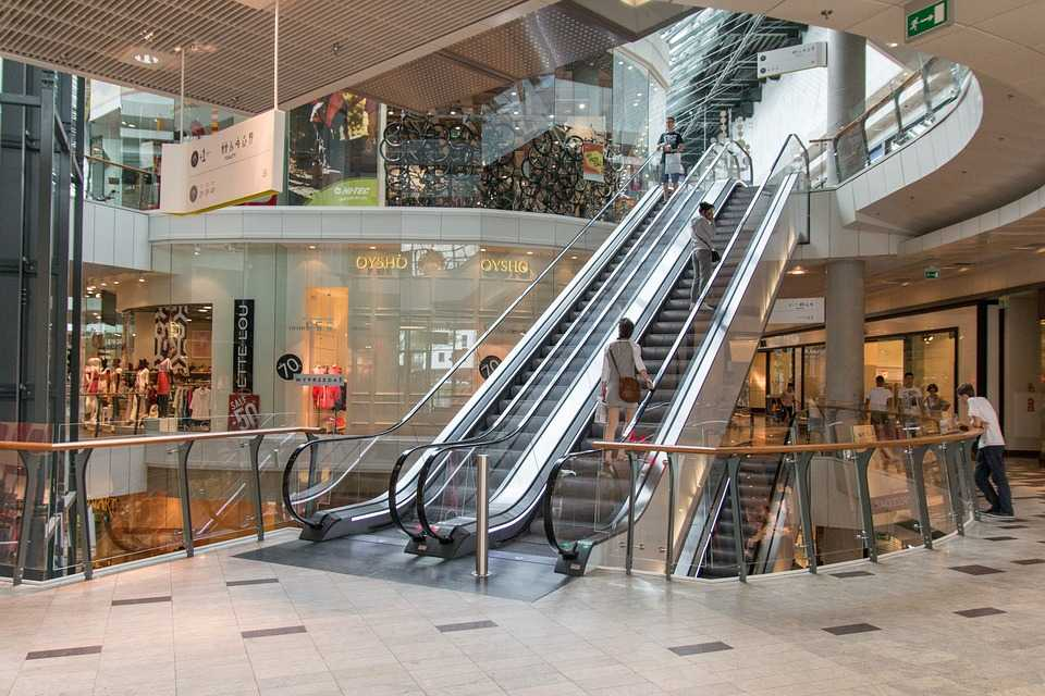 Footfall counters for shopping centres